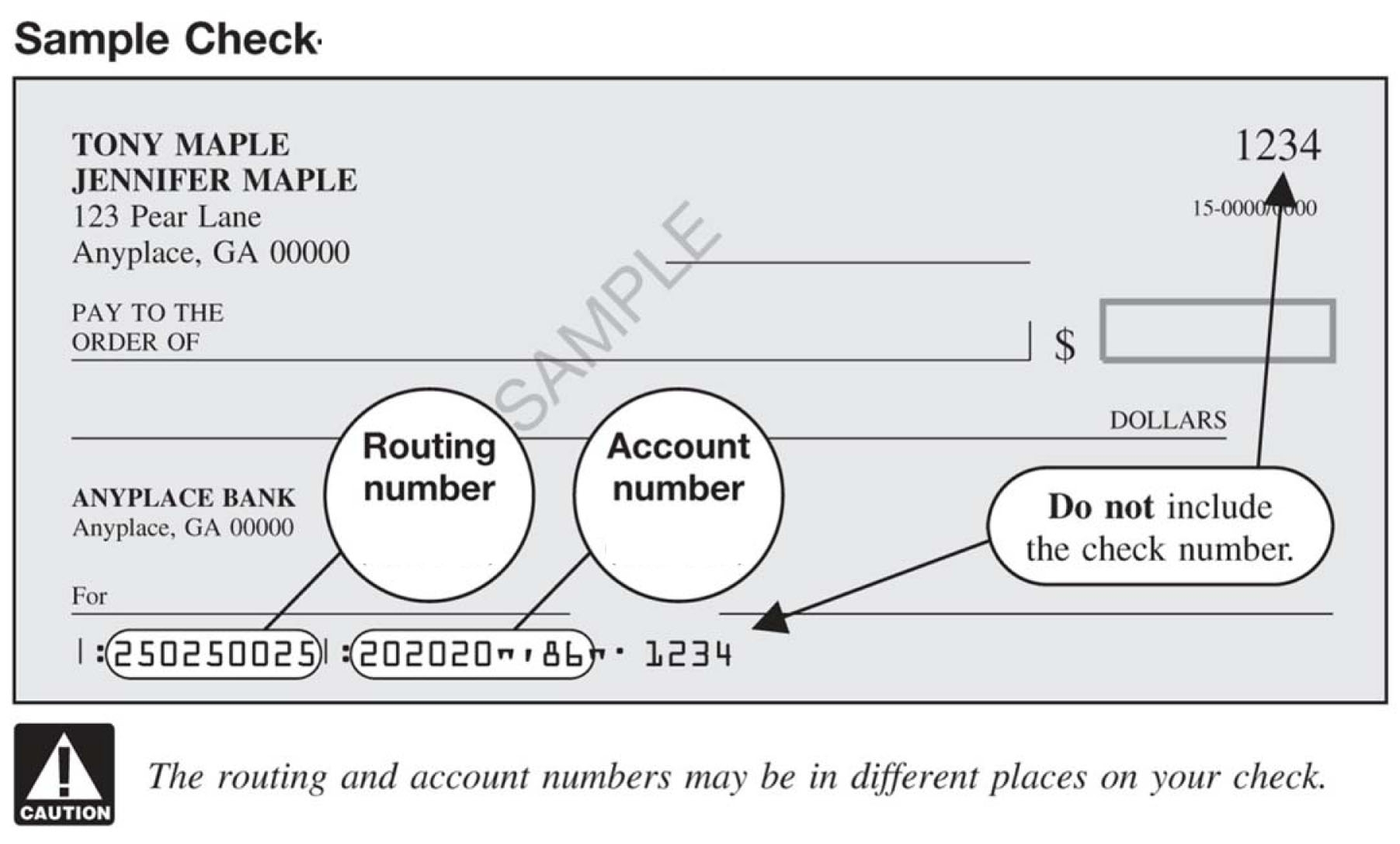 how to find your account number on your check